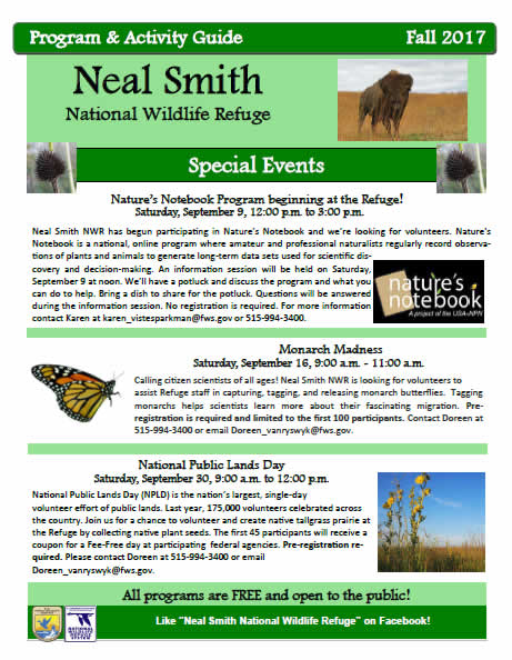 Friends of Neal Smith | Fall 2017 Activity Guide