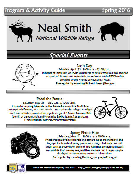 Friends of Neal Smith National Wildlife Refuge Spring 2016 Activity Guide