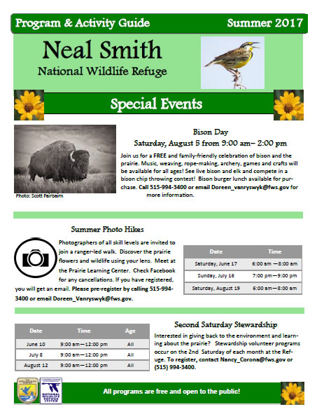 Friends Of Neal Smith National Wildlife Refuge Activity Guide for Summer 2017