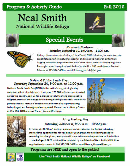 Friends of Neal Smith National Wildlife Refuge Fall 2016 Activity Guide