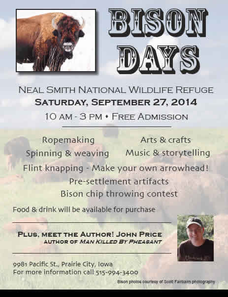 Neal Smith NWR Bison Day flyer
