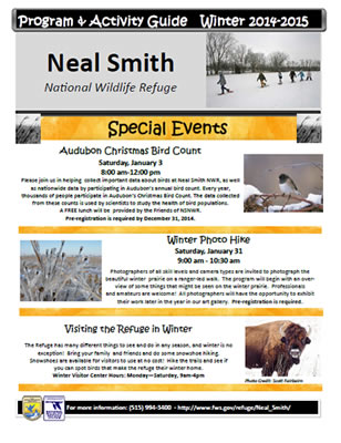 Neal Smith National Wildlife Refugue Winter Program and Activities Guide