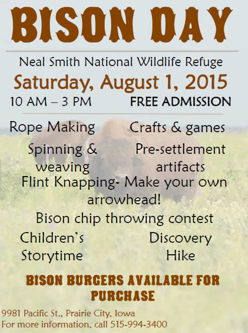 Bison Day Neal Smith National Wildlife Refuge