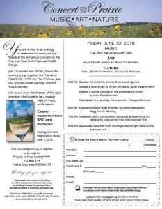 Friends of Neal Smith National Wildlife Refuge | Concert on the Prairie June 10, 2016