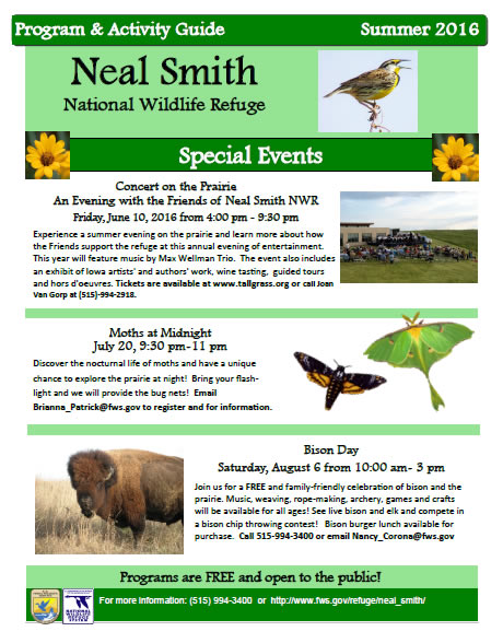 Friends of Neal Smith National Wildlife Refuge Summer 2016 Activity Guide