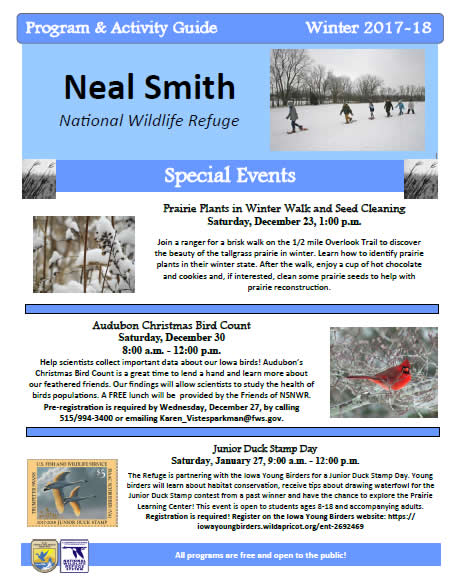 Friends Of Neal Smith National Wildlife Refuge | Winter Activity Guide 2017-2018